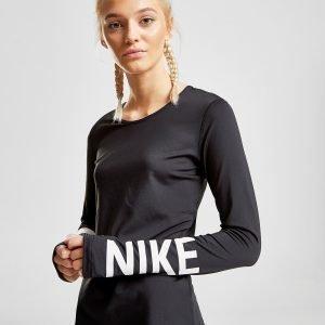 Nike Training Logo Long Sleeve T-Shirt Musta