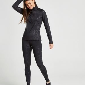 Nike Training Pro Floral Print Leggings Musta