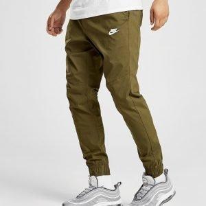 Nike Twill Cuffed Track Pants Olive / Olive