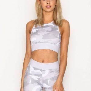 Nly Sport Camo Sports Top Treenitoppi Tight Fit Camouflage