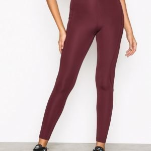 Nly Sport High Waist Basic Tights Treenitrikoot Burgundy