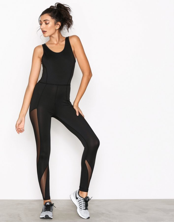 Nly Sport The Sporty Catsuit Treenitrikoot Musta