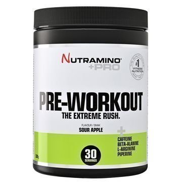 Nutramino +Pro Pre-Workout Powder Kirpeä Omena 315g