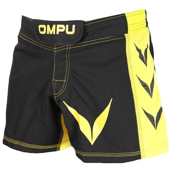 OMPU MMA Shorts Attitude black/yellow