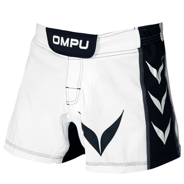 OMPU MMA Shorts Attitude white/black