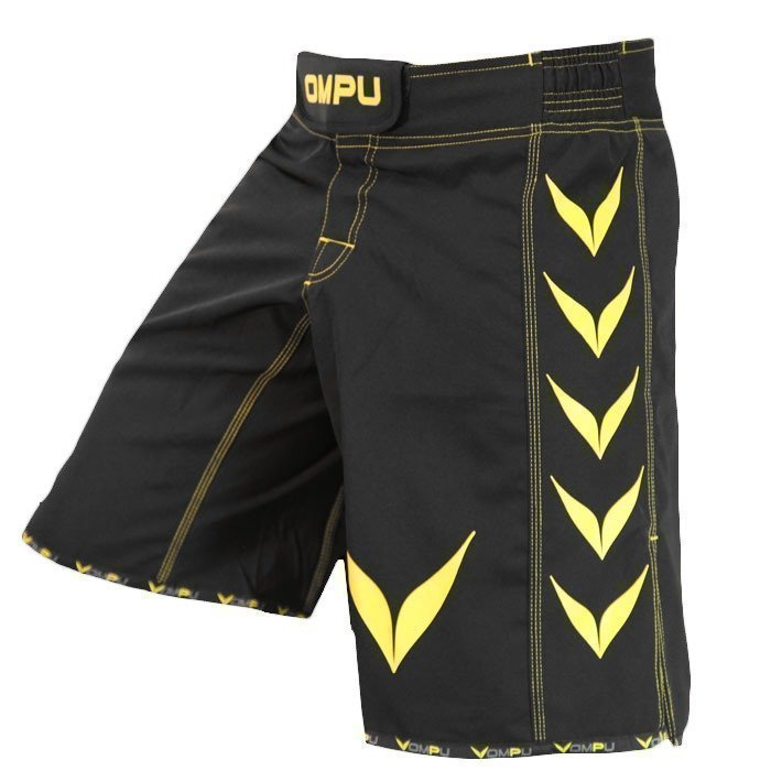OMPU MMA Shorts Confidence black/yellow Large