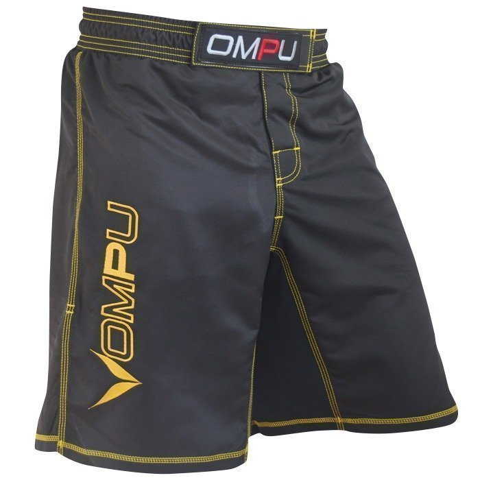 OMPU MMA Shortsit mustat/keltaiset XXL