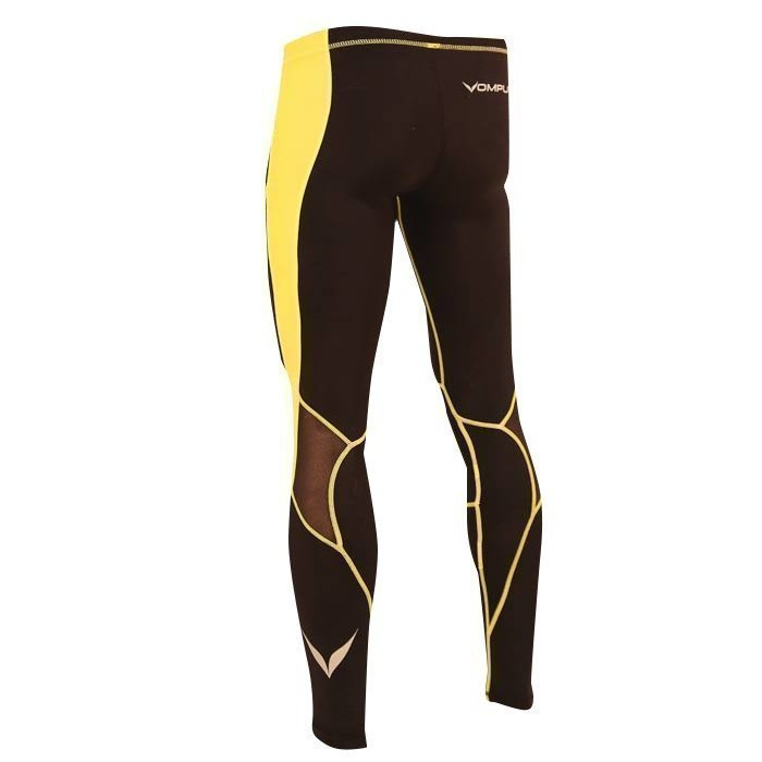 OMPU Multisport Compression Tights black/yellow