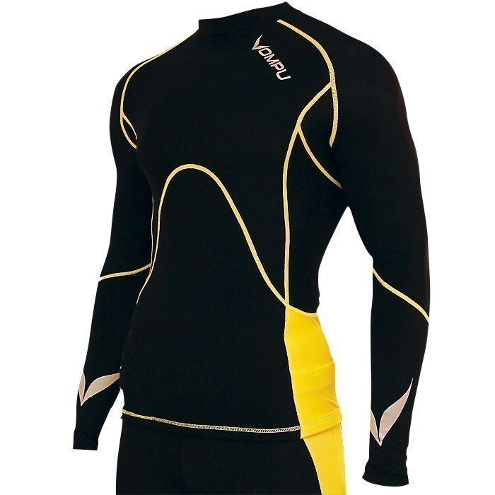 OMPU Multisport Compression Top black/yellow L