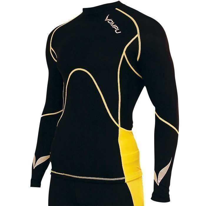 OMPU Multisport Compression Top black/yellow S