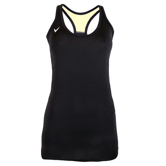 OMPU Performance Tank Long black/yellow L