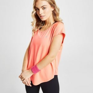 Only Play Loose Short Sleeve T-Shirt Coral / Silver