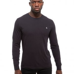 Original Penguin Core Logo Long Sleeve T-Shirt Musta