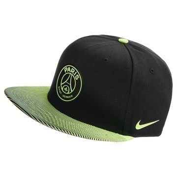 Paris Saint Germain Seasonal True Snapback Musta/Neon