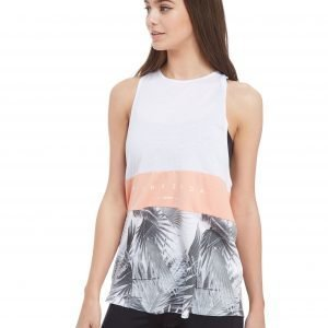 Pink Soda Sport Lace Up Muscle Tank Top Valkoinen