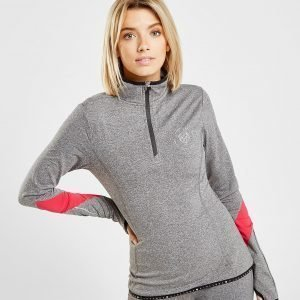 Pink Soda Sport Long Sleeve 1/2 Zip Fitness Top Harmaa