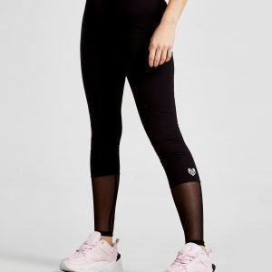 Pink Soda Sport Mesh Block Lifestyle Leggings Musta
