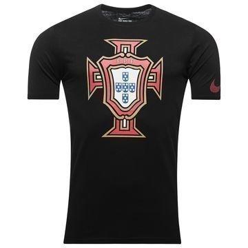 Portugali T-Paita Crest Musta