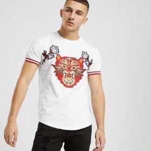 Project X Paris Cat Applique T-Shirt Valkoinen