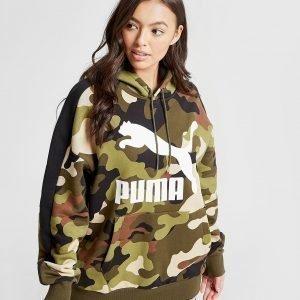Puma All Over Print Camo Hoodie Vihreä