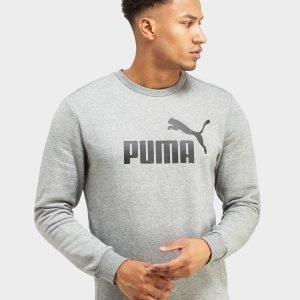 Puma Core Logo Crew Paita Grey Marl