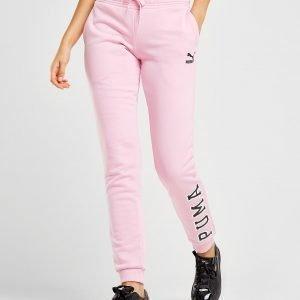 Puma Logo Fleece Housut Vaaleanpunainen