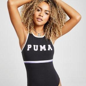 Puma Stripe High Neck Bodysuit Musta