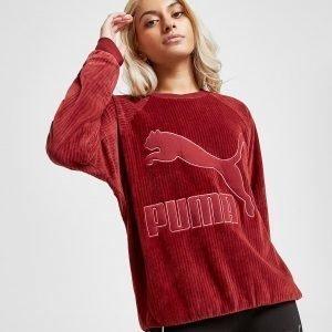 Puma Velvet Rib Crew Sweatshirt Punainen