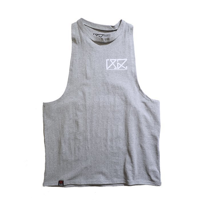 Rääkki Men's Y Tank Top Grey L