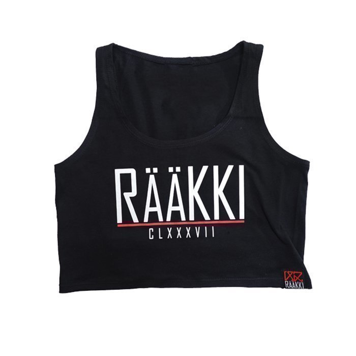 Rääkki Women's Crop Top Black XS