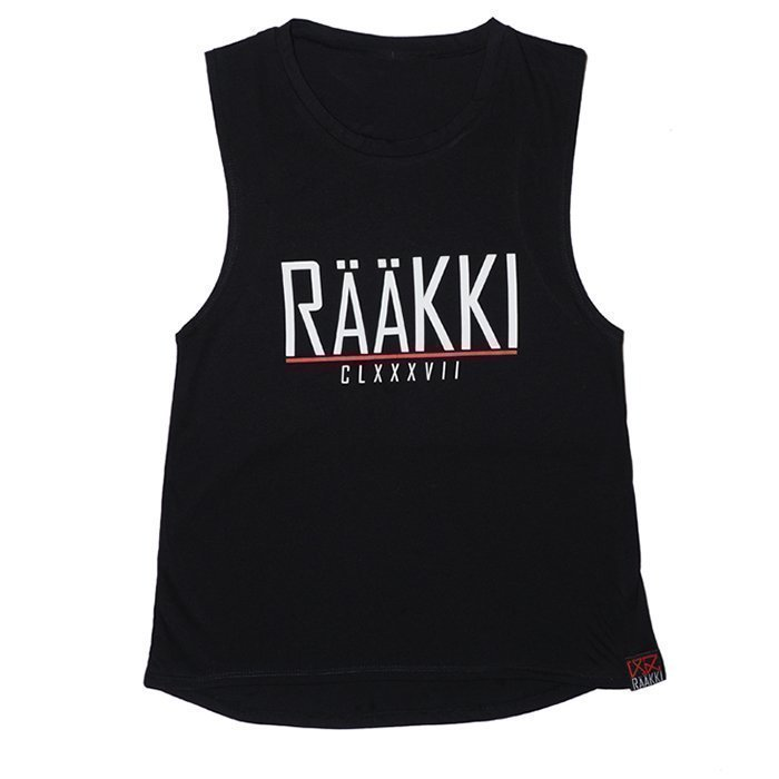 Rääkki Women's Loose Tank Top Black S