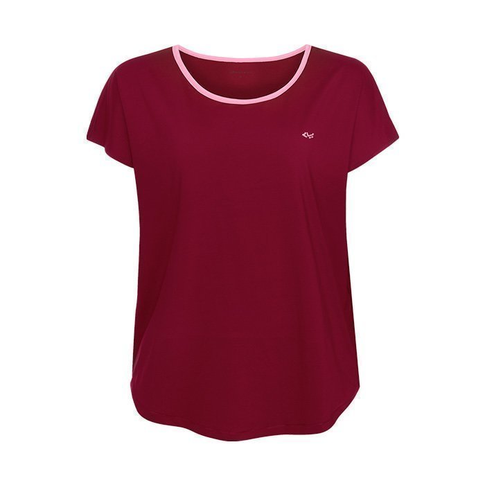 Röhnisch Leo Loose Top beetroot X-small