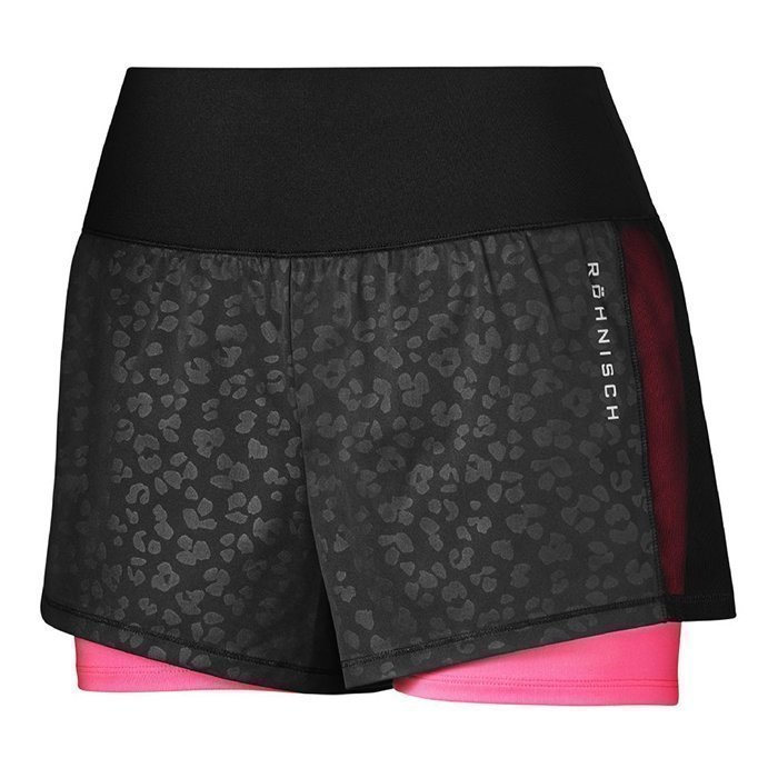 Röhnisch Livy Run Shorts clover shiny black XS