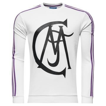 Real Madrid Crewneck Paita Originals Valkoinen/Violetti