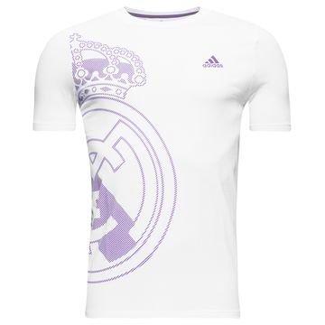 Real Madrid Logo T-paita Valkoinen/Violetti Lapset