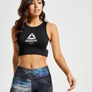 Reebok Logo Crop Sports Bra Musta