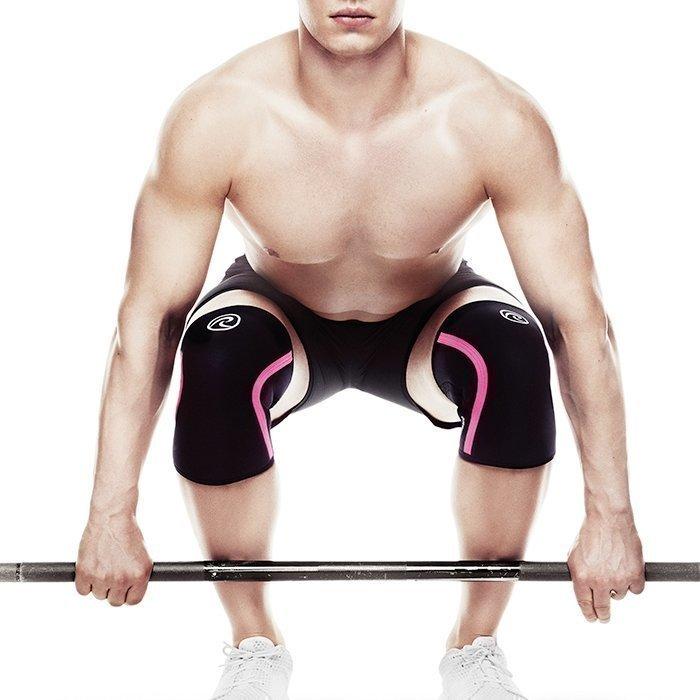 Rehband Rx Knee Support 7 mm Black/Pink Stripe M