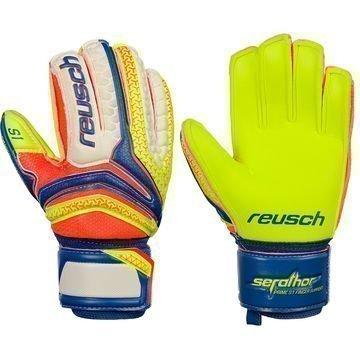 Reusch Maalivahdin Hanskat Serathor Prime S1 Finger Support Sininen/Keltainen Lapset