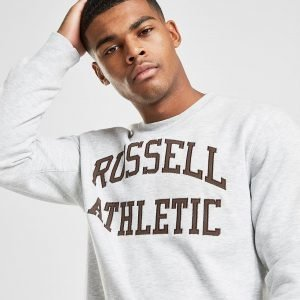 Russell Athletic Arch Logo Crew Paita Harmaa
