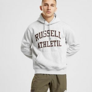 Russell Athletic Arch Logo Overhead Huppari Harmaa