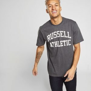 Russell Athletic Arch Logo Short Sleeve T-Paita Harmaa