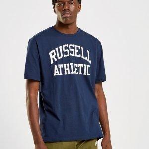 Russell Athletic Arch Logo Short Sleeve T-Paita Laivastonsininen