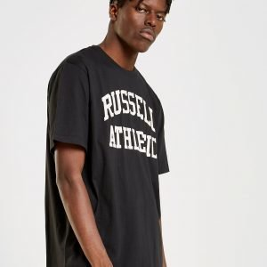 Russell Athletic Arch Logo Short Sleeve T-Paita Musta