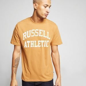 Russell Athletic Arch Logo Short Sleeve T-Paita Ruskea