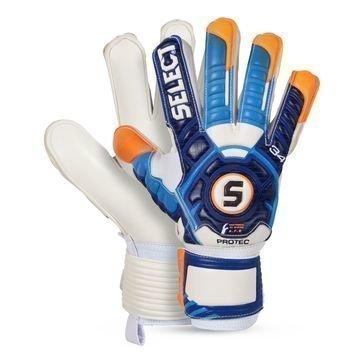 Select Maalivahdin Hanskat 34 Finger Protection Sininen/Valkoinen/Oranssi