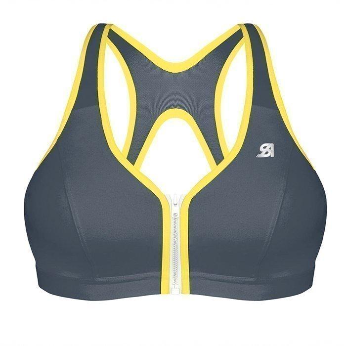 Shock Absorber Active Zipped Plunge Bra grey/yellow 85B