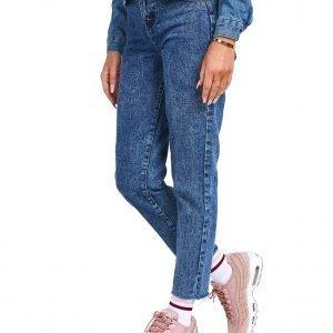 Siksilk Acid Wash Mom Jeans Sininen