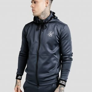 Siksilk Agility Zip Through Hoodie Sininen