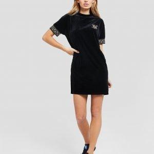 Siksilk Athena Velour Dress Musta