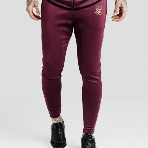 Siksilk Athlete Verryttelyhousut Burgundy / Gold